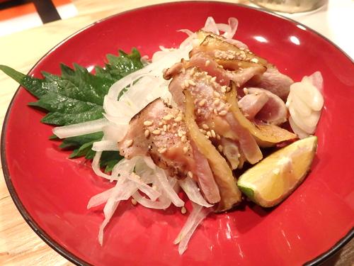 25宮崎地鶏のたたき
