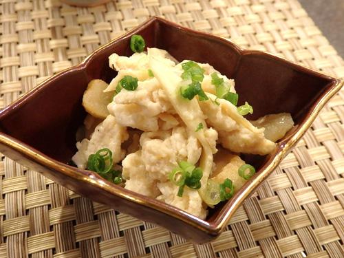 06まこも茸と平天の卵炒め煮