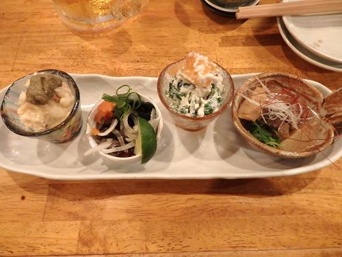 04おまかせ前菜4種盛り