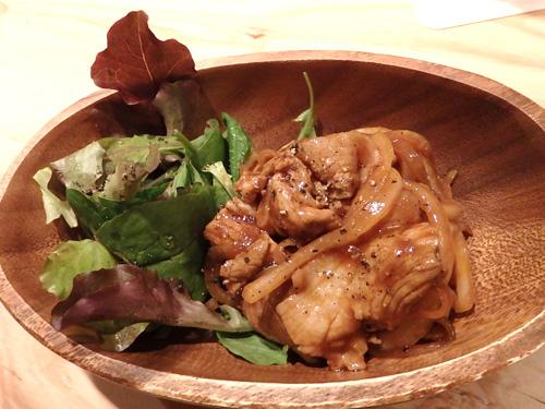 35豚肉と玉ネギのソースマリネ