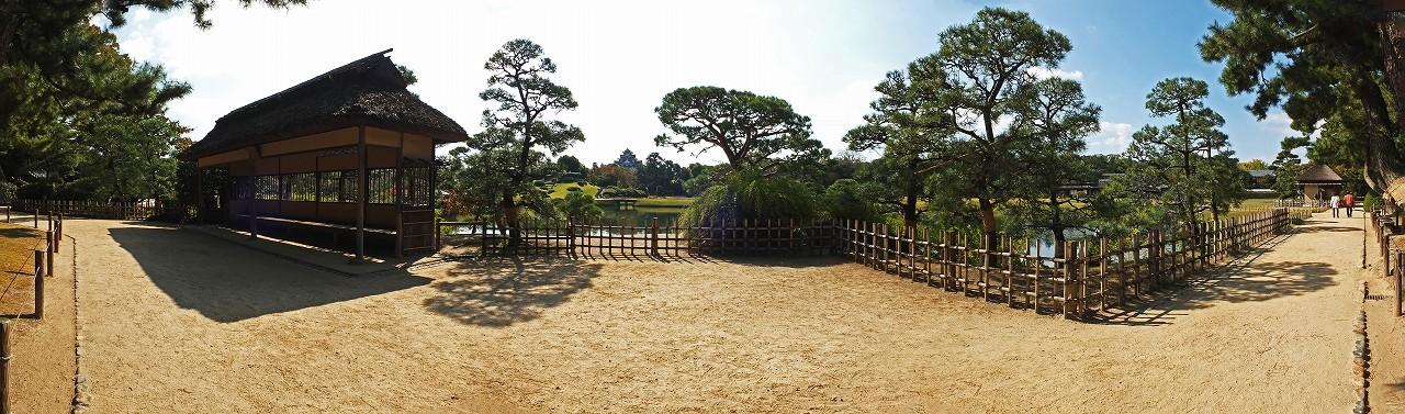s-20151029 後楽園今日の園内観光定番位置秋のワイド風景 (1)