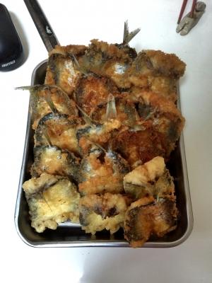 ウルメイワシのフライと天ぷら