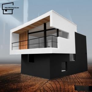 模型 白黒