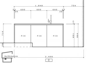 キッチン立面_01