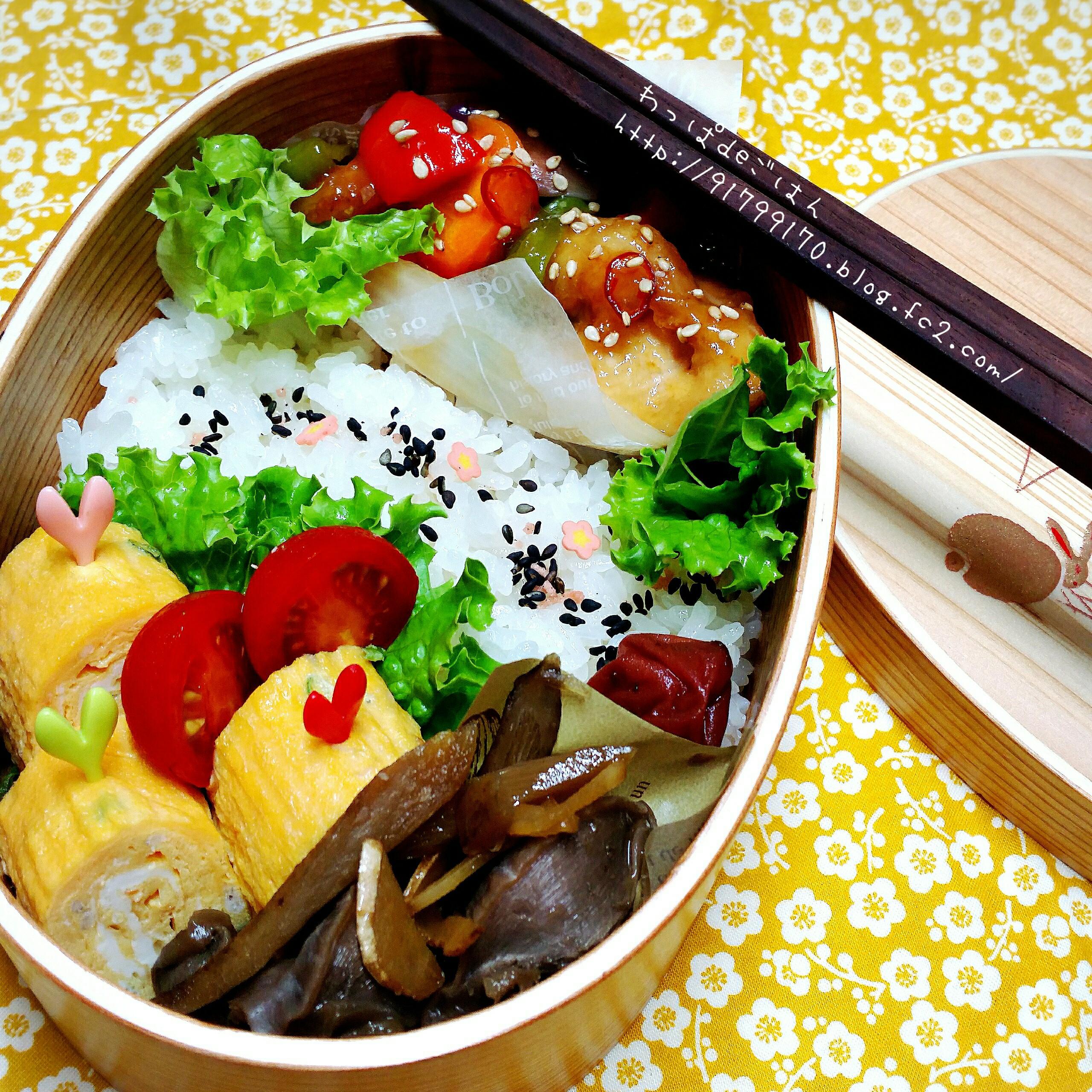 彩り野菜のピリ辛酢鶏弁当