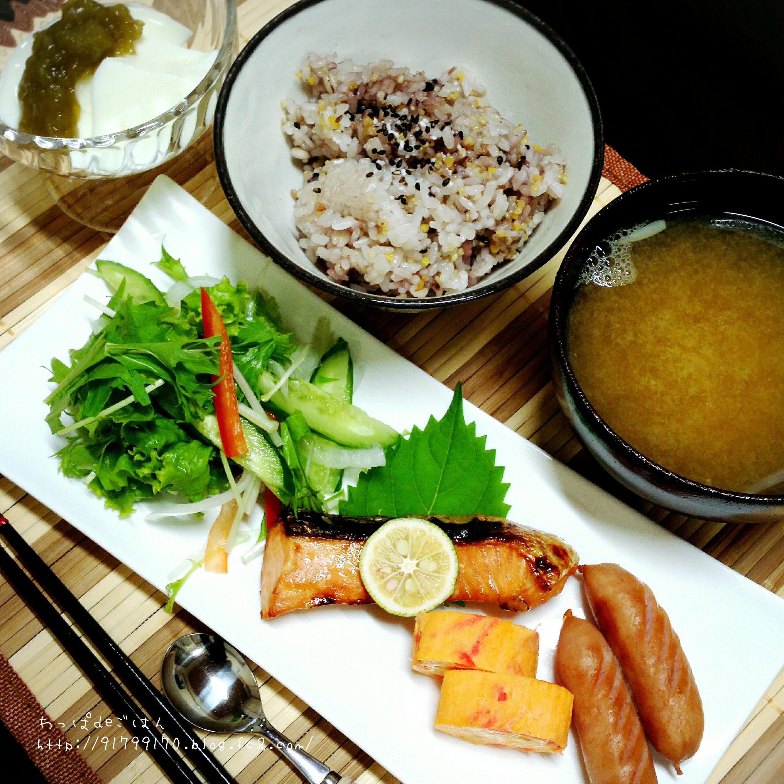 2015/10/3節約料理の朝ごはん