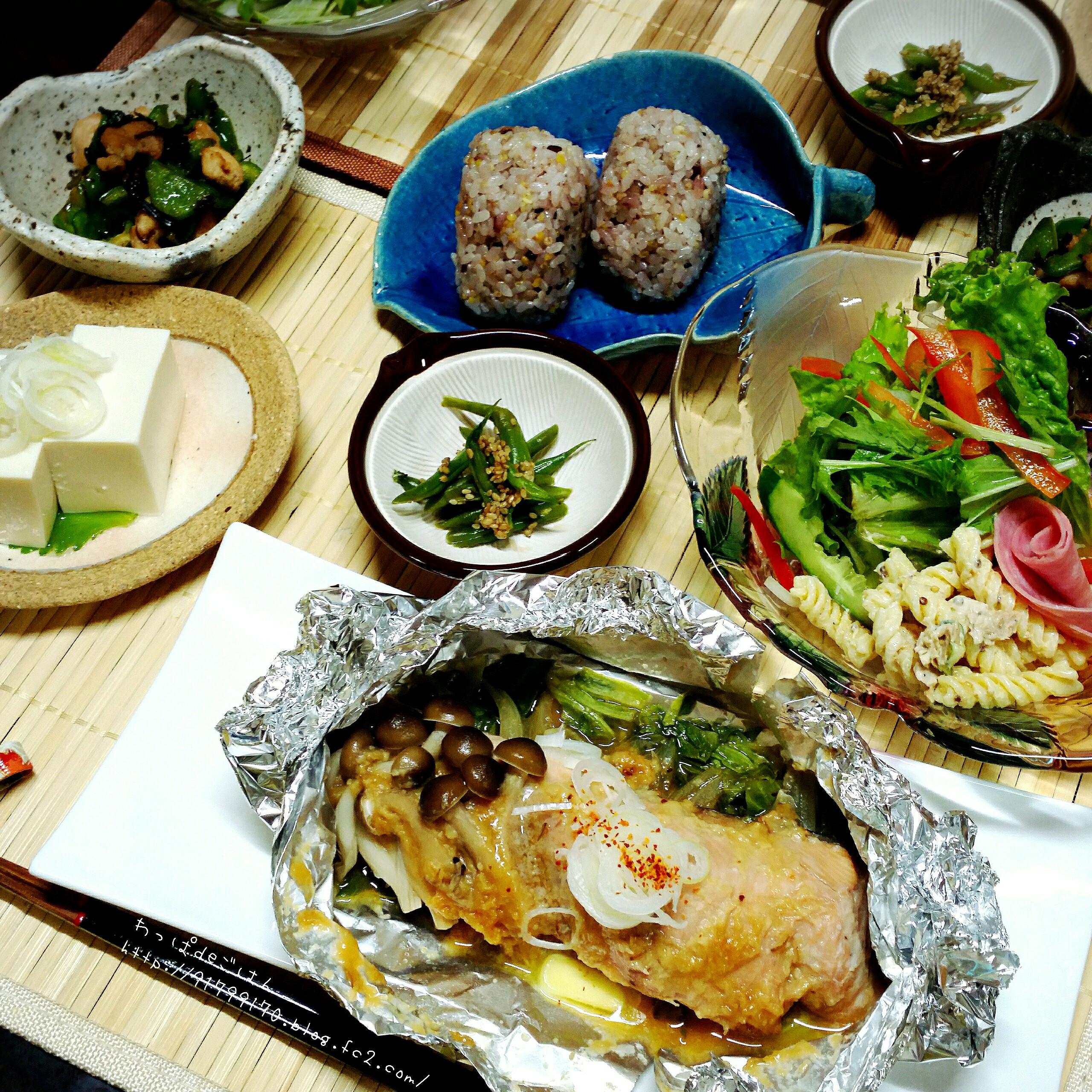 2015/10/3秋鮭のちゃんちゃん焼きの晩ごはん