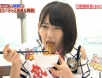 HKT48 宮脇咲良 セクシー 食事顔 顔アップ 口開け 困り顔 地上波キャプチャー 高画質エロかわいい画像9547