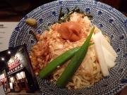 中野 東京煮干屋本舗 冷やし油そば 梅かつお(2015/8/28)