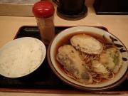 日本橋室町 そばよし 野菜天そば+半ライス(2015/11/27)