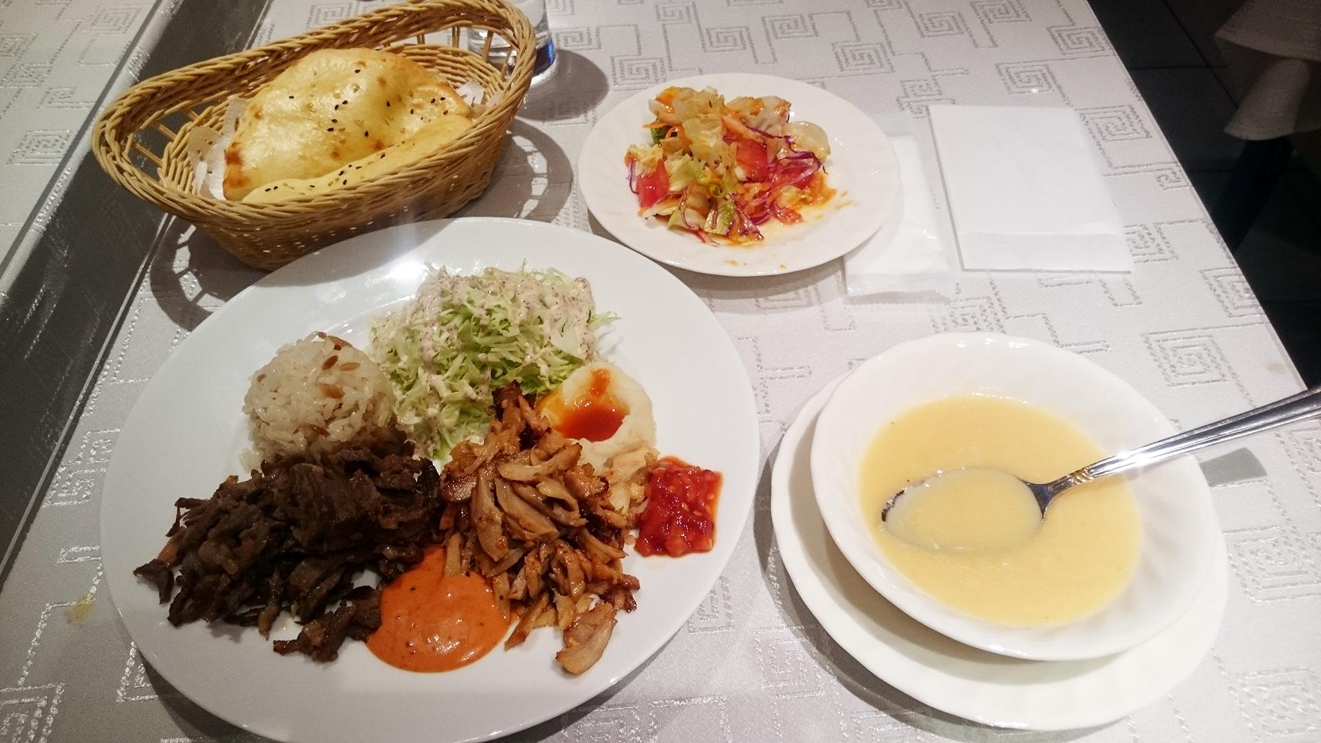 赤坂 トルコ料理 サライのケバブセット