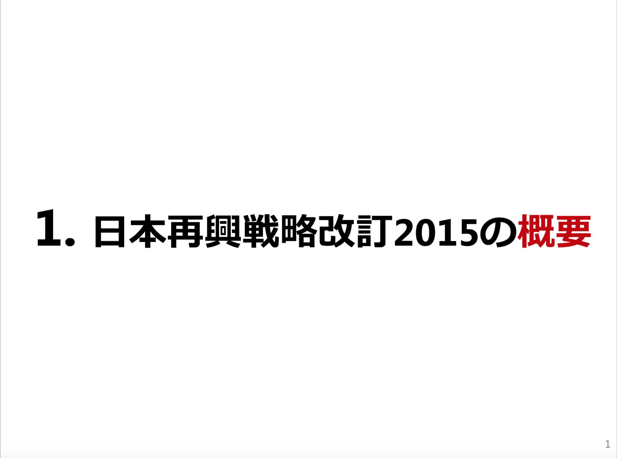 日本再興戦略2015ー1