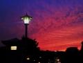 大橋の夕陽