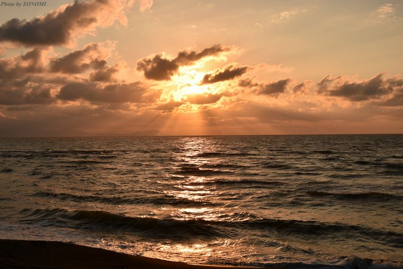 夕陽 石狩1