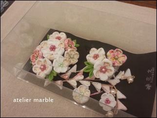 千葉県 旭市 つまみ細工 髪飾り 手作り オーダーメイド 成人式