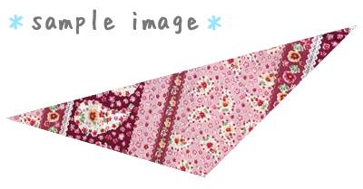 犬用バンダナ・小花柄・ピンク