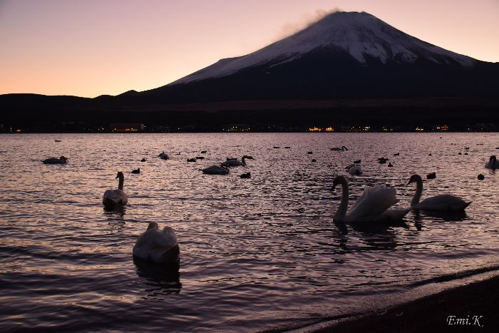 089-Emi-山中湖-富士山