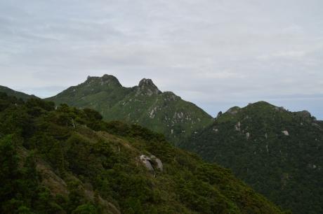 7永田岳が見える