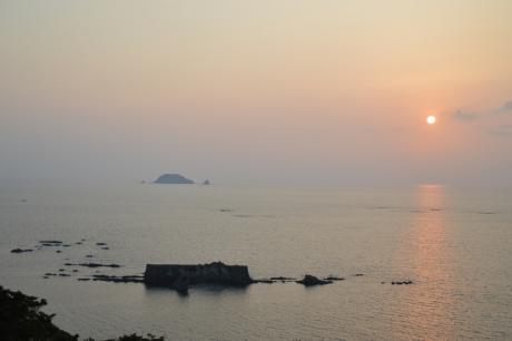 16小森海岸の夕陽