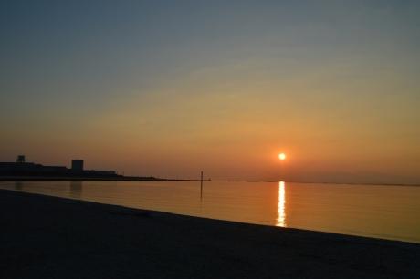 7海の夕陽