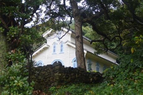 21木に囲まれた天主堂