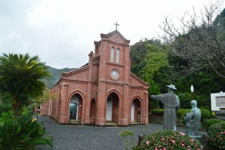5レンガ造りの五島最古の天主堂