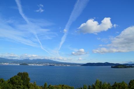 7揺蕩う飛行機雲
