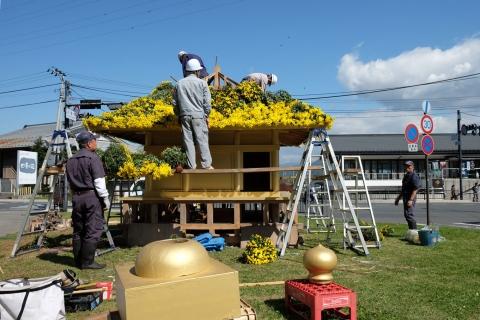 37中尊寺:菊祭り