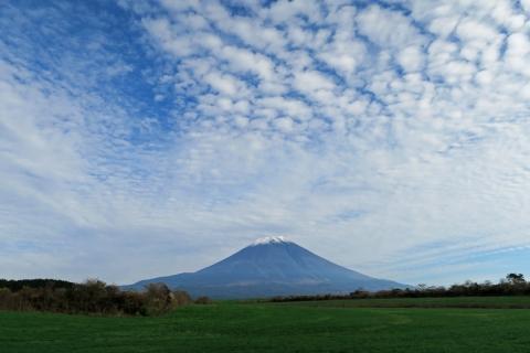 30牧草地からの富士山