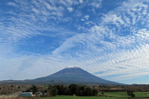31牧草地からの富士山