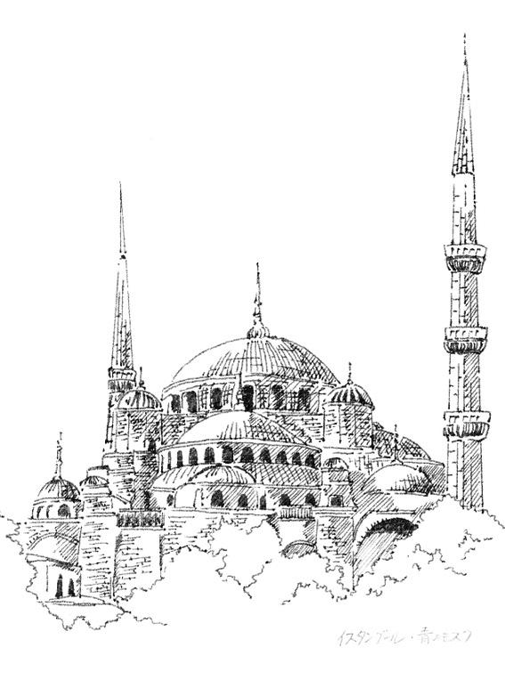 青のモスク小ー