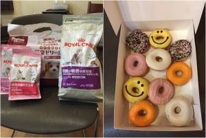 20151121支援物資@さっちゃん、イクッチくん、ライくんママ