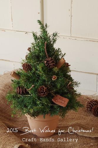 ナチュラルなミニクリスマスツリー