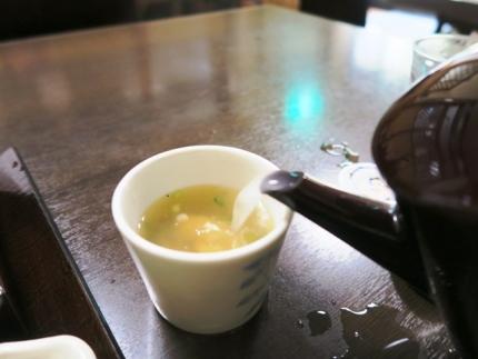 15-9-3昼 蕎麦湯