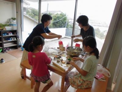 20150917ココ名島一周年プレゼントクッキー作り (1)