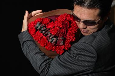 ハート型 バラ プロポーズ 花束 可愛い 花夢