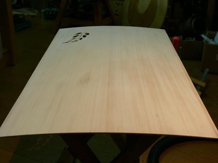 十五絃琴の表面板