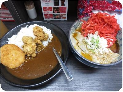 カレーセット+紅生姜天???