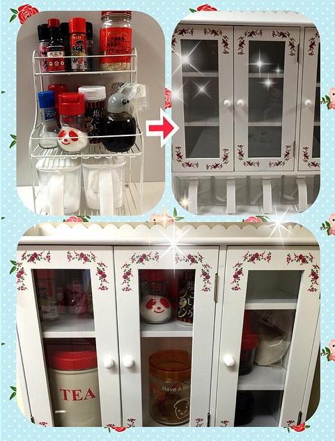 キッチン収納 カウンター上収納 スパイスラック 調味料ラック