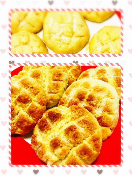 ホットケーキミックスで作ったメロンパン