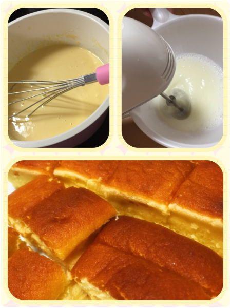 ホットケーキミックスで作ったチーズケーキ