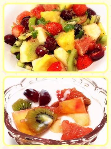 フルーツヨーグルト フルーツサラダ