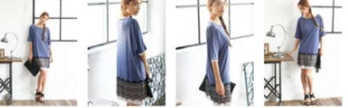 女性向け会員制ファッションセールMUSE&Co.ミューズコー 裾レースドルマンカットワンピ