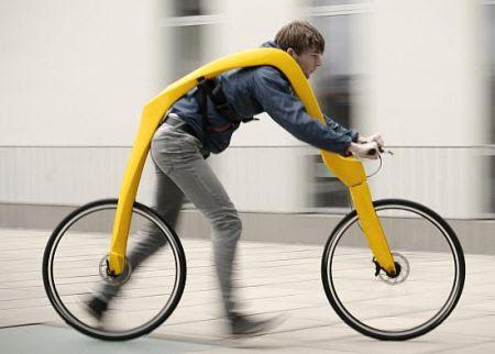変な自転車