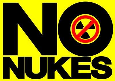 このデモの写真に写っている「NO NUKES」のプラカードは、私の息子がデザインして、SEVEN ELEVENでネットプリントできるようにしたものだそうです。
