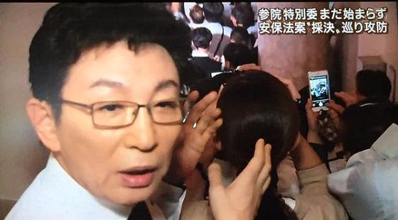 9月16日放送の「報道ステーション」では、古舘伊知郎が国会からの中継