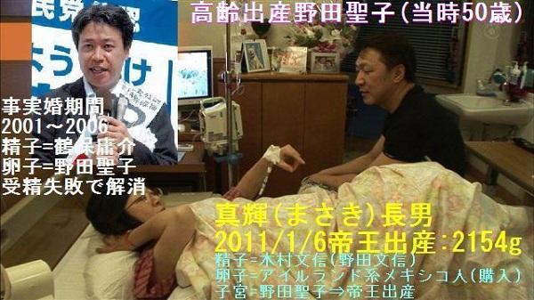 野田聖子の夫の【金文信→木村文信→野田文信】は、アダルト迷惑スパムメールで逮捕されていた。