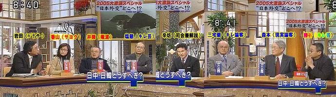 2005年、愛国心について「わざわざ憲法に明文化する必要などない」と発言、三宅久之に「愛国心のない人間なんぞは、この日本に住む理由もない。日本から出て行ったらいいんだ」と言われ、「そんなのはクソ理論でしょ