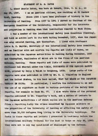 マイナー・ベイツの供述(1947年2月6日)。