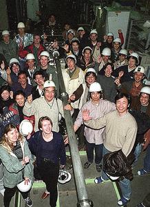 スーパーカミオカンデの内部=岐阜県飛騨市の東京大宇宙線研究所